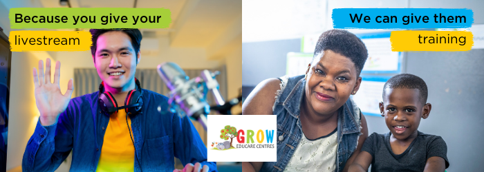 Giving Tuesday south africa grow educare centres Livestream