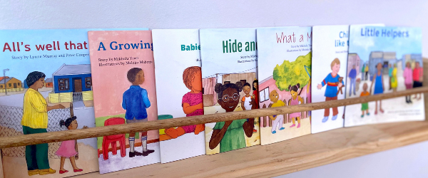 Wordless books from Mikhulu trust will be used at GROW Educare Centres